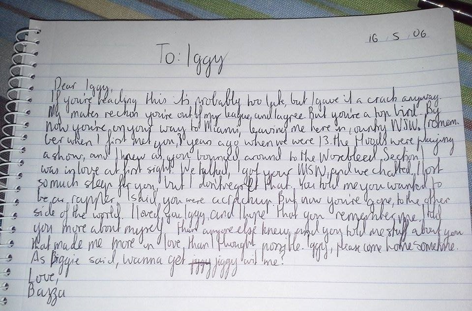 A Handwritten Love Letter To Iggy Azalea